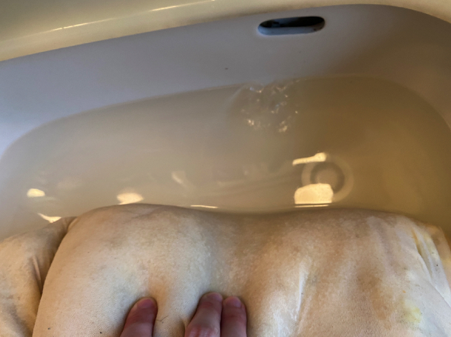 枕の洗濯手順3