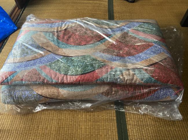 フレスコの戻ってきた布団袋の中身