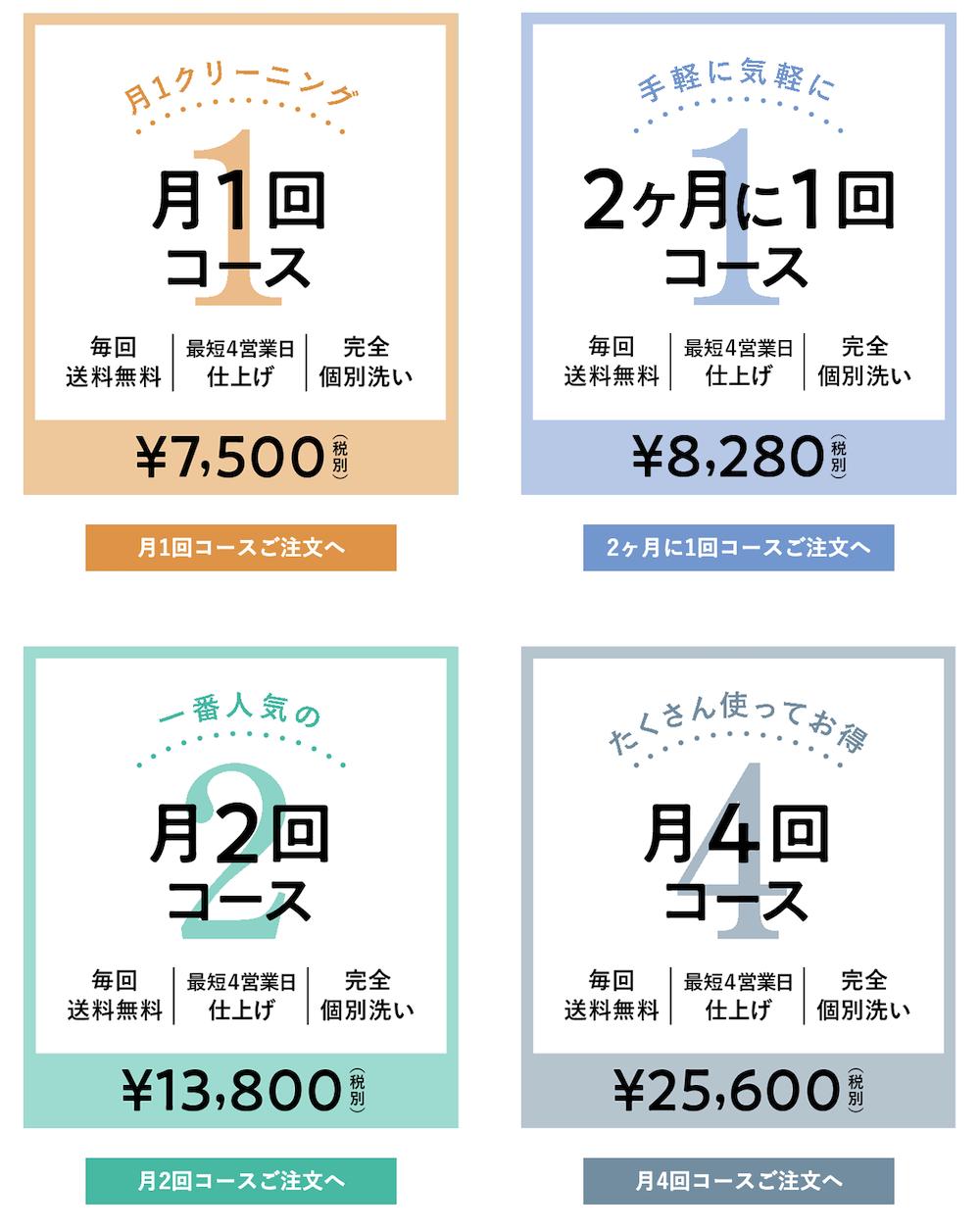 LACURIの定期便料金