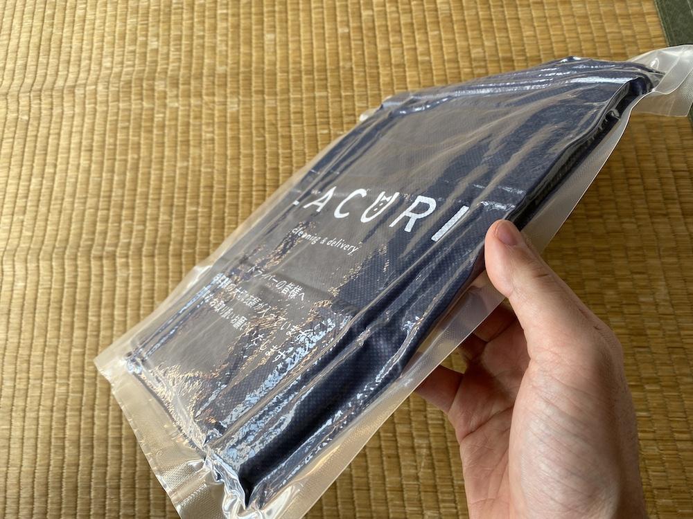 LACURIの配送バッグはコンパクト